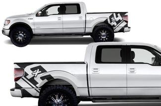 FORD F-150 (2009-2014) CUSTOM VINYL DECAL WRAP KIT - 4X4
