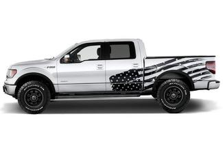 FORD F-150 (2009-2014) SUPERCREW 5.5 BED CUSTOM VINYL DECAL WRAP KIT - PATRIOT