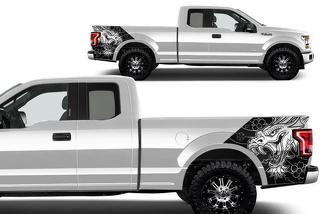 FORD F-150 (2015-2017) VINYL REAR DECAL WRAP KIT - DRAGON
