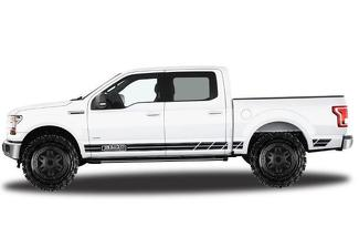 FORD F-150 (2015-2017) SUPERCREW 5.5 BED CUSTOM VINYL DECAL WRAP KIT - F150 ROCKER