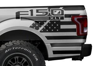 FORD F-150 (2015-2017) VINYL REAR DECAL WRAP KIT - F-150 USA QUARTER