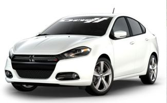 DODGE DART WHINDSHIELD VINYL DECAL STICKER (WHITE COLOR)