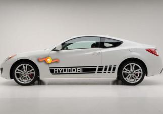 2X mehrfarbiger Elantra Sonata Azera Genesis Car Racing Aufkleber Aufkleber