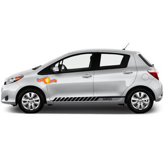 Racing Graphic Stripe Car Vinyl Decal Sticker for TOYOTA Yaris 2012 - 2018