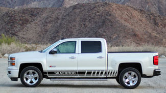 2X Multiple Color Graphics Chevrolet Silverado Car Racing Vinyl Decal Sticker