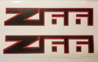 Z66 stickers decal chevy chevrolet avalanche truck black matte (SET)