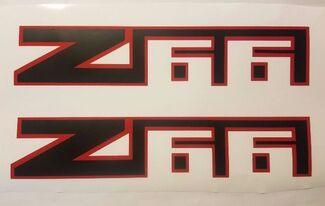 Z66 Aufkleber Aufkleber Chevy Chevrolet Lawine LKW schwarz matt (SET)