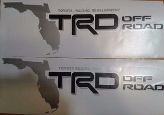 TRD Off Road decal, map florida Sticker tundra tacoma toyota black matte (set)