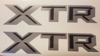 XTR decal stickers, gray and black matte truck silverado F150 (SET)