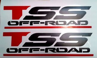 TSS OFF ROAD DECALS STICKERS, BLACK MATT SET 1