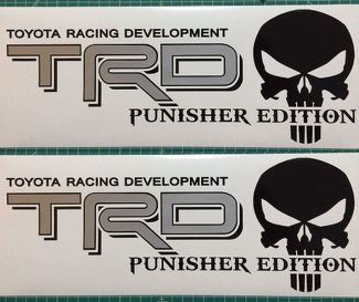 Toyota TRD Truck Off-Road Racing Tacoma Tundra The Punisher Decals Sticker Decal
