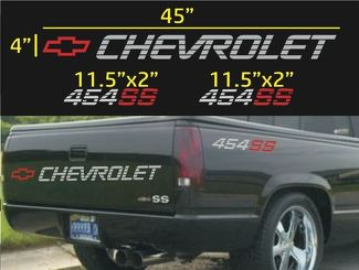 CHEVROLET 454 SS TAILGATE & BED VINYL DECAL STICKERS SET