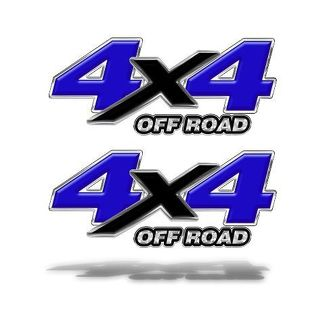 4X4 OFF ROAD DECAL STICKER Blue Graphics Chevy Ford Dodge Truck Mk505OR4