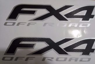 Ford fx4 off road decal carbon fiber, sport chome truck ( SET)