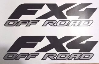 ford fx4 off road decal Matt black and gray, sport chome truck ( SET)