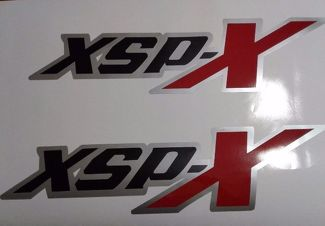 XSP-X decal stickers, black matt red and gray TOYOTA TUNDRA TACOMA (set)