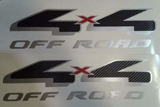 4x4 off road decal sticker fiber carbon silverado truck chevrolet (SET)