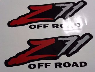 Z71 off road stickers decal, silverado tahoe GM sierra ( SET )
