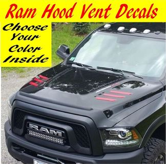 2010-2017 Dodge Ram 2500 & 3500 hd Hood vent Decals inserts Stickers