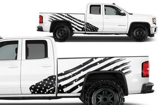 GMC SIERRA 2014-2017 CUSTOM VINYL DECAL WRAP KIT - PATRIOT