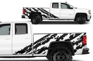 GMC SIERRA 2014-2017 CUSTOM VINYL DECAL WRAP KIT - SHRED