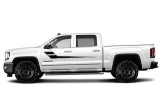 GMC SIERRA 2014-2017 CUSTOM VINYL DECAL WRAP KIT - SIDE STRIPE