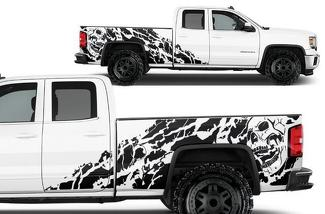 GMC SIERRA 2014-2017 CUSTOM VINYL DECAL WRAP KIT - NIGHTMARE