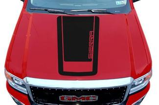 GMC SIERRA (2014-2017) CUSTOM VINYL HOOD DECAL WRAP KIT - SIERRA V1