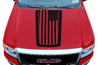 GMC SIERRA (2014-2017) CUSTOM VINYL HOOD DECAL WRAP KIT - PATRIOT
