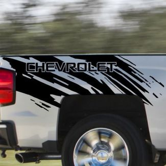 Chevrolet Chevy Splash Grunge Logo Truck Vinyl Decal bed Graphic