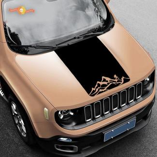 Jeep Renegade Mountain Yeti Bigfoot Graphic Vinyl Decal Sticker Hood