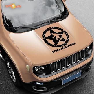 Jeep Renegade Yeti Sasquatch Army Star Distressed Vinyl Decal Sticker Side SUV