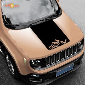 Jeep Renegade Mountain Graphic Vinyl Decal Sticker Hood