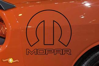 Mopar Decal Challenger Logo Side Flare Car Truck Vinyl Graphic