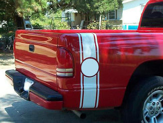 Bed Side Rally Racing Stripes (for all trucks) Decal Sticker vs circle