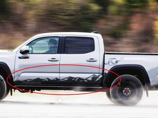 Toyota Tacoma Side Door Rocker Panel Mountain Decal Sticker 04-21