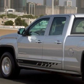 Side stripes decal for GMC Sierra door panel graphics