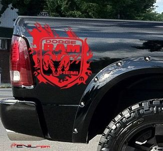 Product Dodge Ram Vinyl Decal Graphic Sticker Tribal Hood