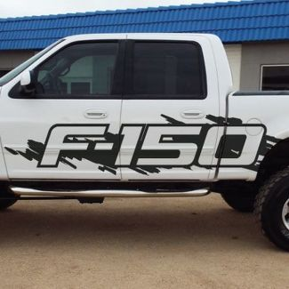 Ford F-150 Side Splash Grunge F150 Vinyl Decal Graphic Pickup Pick Up Bed Truck