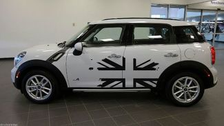 UK Flag British Mini Cooper Graphic Decal Sticker Distressed Truck Vehicle Vinyl