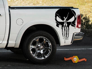 Punisher Grunge Splatter Decal Dodge Ram Car Truck SUV Vehicle Graphic Pickup