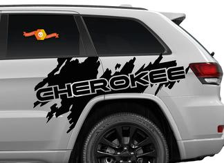 Side Jeep Cherokee Trail Hawk TrailHawk Splash Splatter Graphic Vinyl Decal SUV