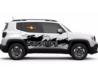 Jeep Renegade Side Splash Splatter Logo Graphic Vinyl Decal Sticker