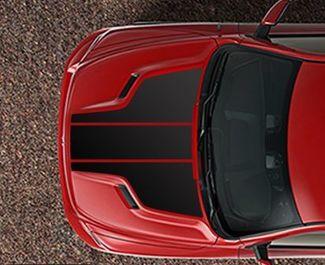 RAM 1500 Sporthaube 3-teiliges Aufkleberstreifenset Normaler Rennstreifen HEMI 5.7 MOPAR