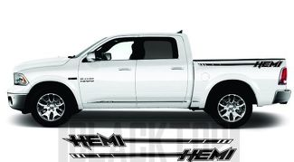 RAM 1500 2500 3500 Bed Decal HEMI Stripe