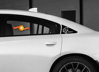 Dodge Charger HELLCAT C Säulenaufkleber 2011 2012 2013 2014 2015 2016 2017 SRT