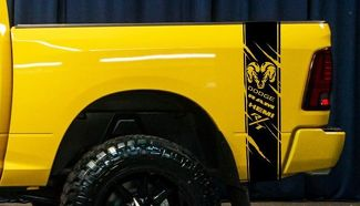 Product: Dodge Ram Rebel Grunge Splash Logo Truck Vinyl Decal Graphic Camo 2 Colors