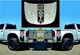 DODGE RAM HEMI 1500 2500 3500 3x HOOD & FENDER DECALS graphic vinyl body sticker