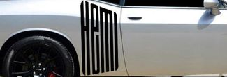 CUDA HEMI Text Logo Decal Graphic Vinyl Challenger Charger SRT RT RAM