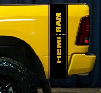 Dodge Ram 1500 RT HEMI Truck Bed Box graphic Stripe decal sticker tailgate SRT10